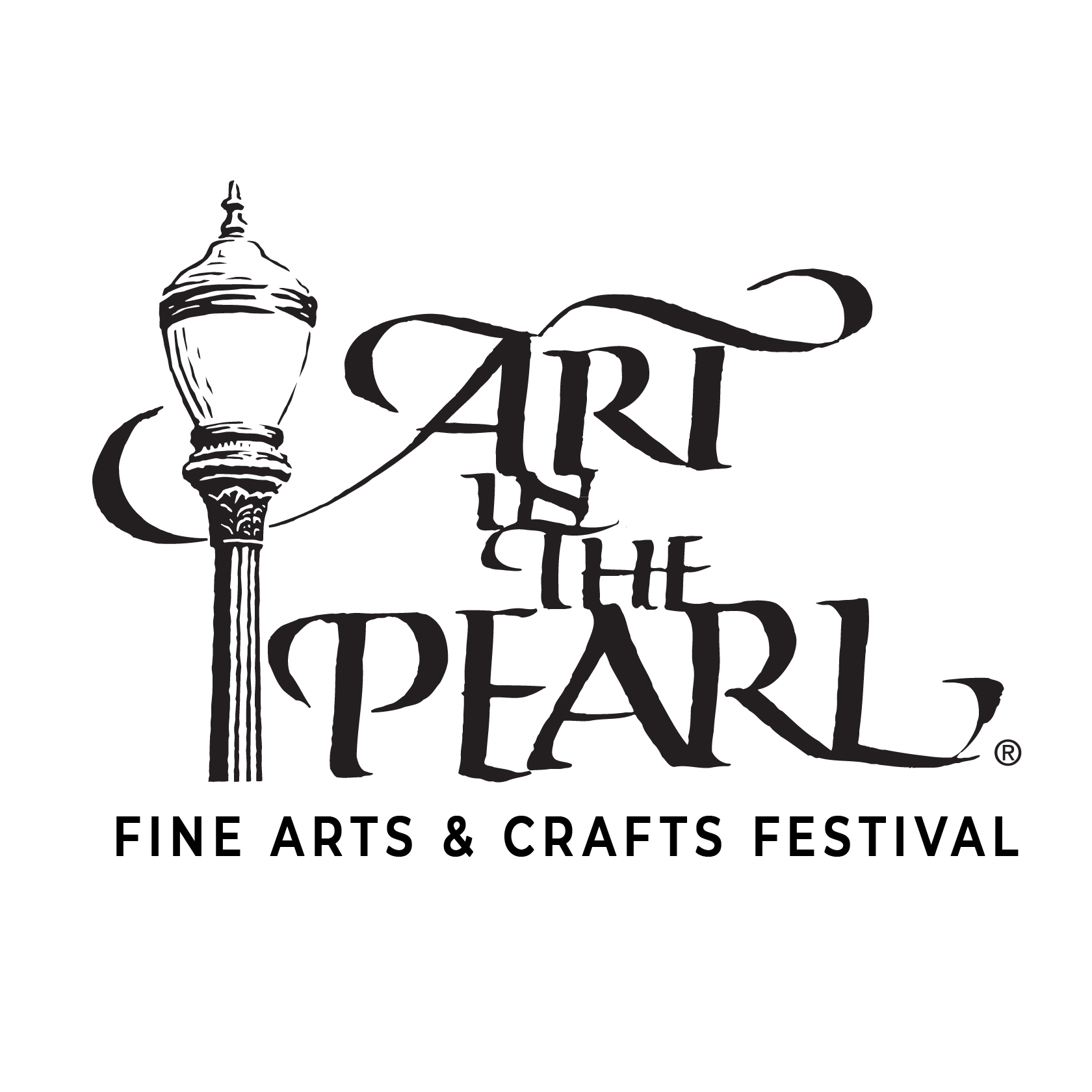 Art In The Pearl Logo Black