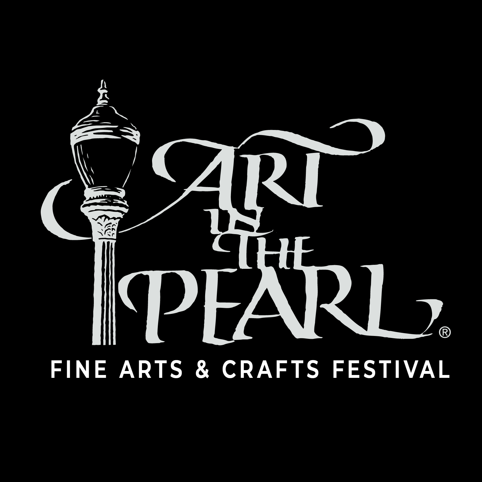 Art in The Pearl Logo White