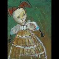 Jacquline Hurlbert: Porcelain Doll With Bow
