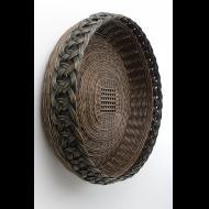 Peeta Tinay: Ring Border Basket In Black and Brown