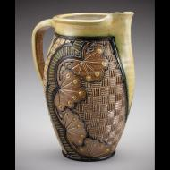 Ginger Steele: Pitcher with Cotton Imagery