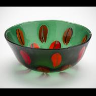 Janet Neuburg: glass bowl, two-sided design