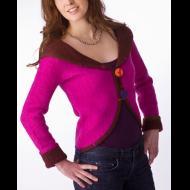 Norah Curtis: Fuchsia Shawl Collared Jacket