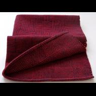 Beth Poirier: Handwoven Towel - Red and Black