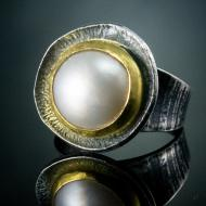 Ashley Heitzman: 19 Mabe Pearl Arc Ring