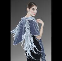 Karen Gelbard: Hooded Shawl with Waterfall Scarf