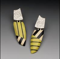 Carla M Fox: Hollow Form & Striped Wood Earrings