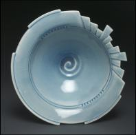 Linda Heisserman: Blue Art Deco Bowl