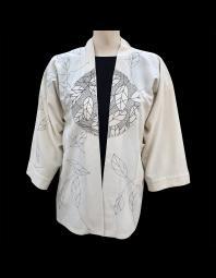 Billie Barthelemy: Kimono Jacket Leaves and Dots