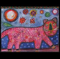 Jill Mayberg: Dotted Pink Panther