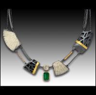 Janine DeCresenzo: Aztec Emerald Diamond Coral Necklace