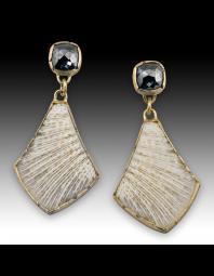 Janine DeCresenzo: Black Diamond and Coral Earrings
