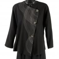 Billie Barthelemy: Asymmetrical Jacket with Parallel Stitching