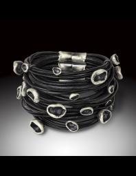 Monique Rancourt: Oceanic  Cluster Leather Cuff