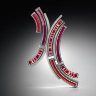 Michele Friedman: Fractured Circle Brooch
