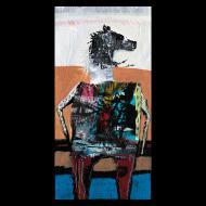 Jesse Reno: horse sitting on bench waiting